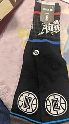 Los Angeles Clippers Stance Socks Large Casual M 9 13 Black Infiknit NBA New $12.00