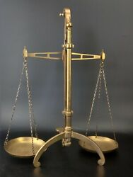 Antique Bankers Brass Balance Scale By W amp; T Avery Ltd Birmingham GBP 270.00