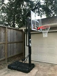 Spalding 54 in Portable Acrylic Basketball Hoop Only 1 year old $199.00