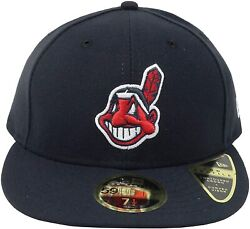70367451 Mens New Era MLB Low Profile Authentic 5950 2017 Cleveland Indians $32.99