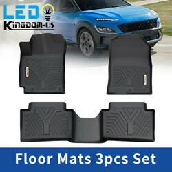 All Weather Floor Mats for 2018 19 20 21 2022 Hyundai Kona Front Rear TPE Liners $89.99