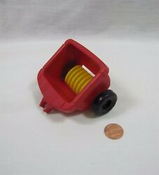 Fisher Price Little People RED FERTILIZER SPREADER CART for TRACTOR FARM Barn $5.52