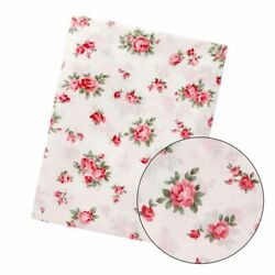 100% Cotton Fabric Floral Flowers Rose Vintage Material Sewing 170cm Half Meter $2.45