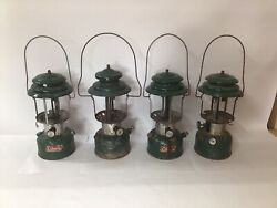 Lot of 4 Vintage Coleman Lanterns for Parts Repair Untested Models 220 amp; 228 $64.99