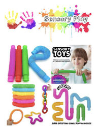 Fun Pull and Pop Tubes for Kids Stretch Bend Build and Connect Toy $6.95