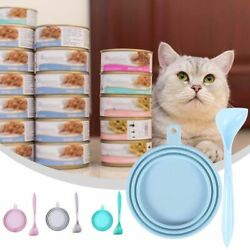Kitten Canned Mixing Cat Feeding Shovel Dog Food Scoop Seal Cover Food Can Lid $5.98