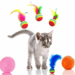 Rainbow Color Funny Kitten EVA Foam Ball Chewing Toy Pet Supplies Cat Toys $6.22