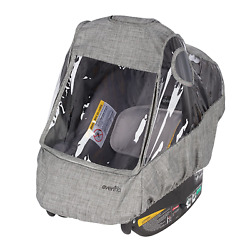 Evenflo Infant Car Seat Weather Shield And Rain Cover Grey Melange $36.99