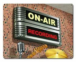 Ylens On Air Recording Retro Vintage Tin Signs Wall Metal Posters Plaques Home $17.29