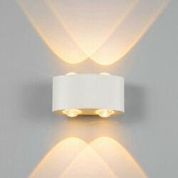 Modern Exterior Wall Up amp; Down LED Light Sconce Wall Lamp In Outdoor Fixtures 8W