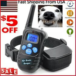 1000 FT Remote Dog Shock Training vibration Collar Rechargeable LCD Pet Trainer $22.99