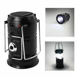 USB Solar 6 LED Portable Light Rechargeable Lantern Outdoor Camping Hiking Lamp $6.89