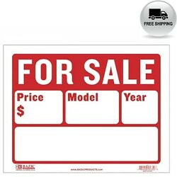 BAZIC 9quot; X 12quot; For Sale Sign for Car and Auto Sales 2 Line S 2 $4.80