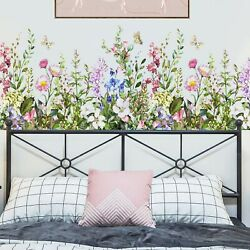 Colorful Flowers Wall Stickers Decoration Peel and Stick Wall Art Sticker Dec... $15.56