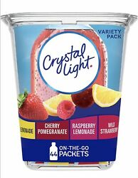 Crystal Light Variety Pack Drink Mix 44 On the Go Packets 1 Pack 44 Count $9.49