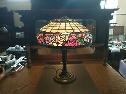 ANTIQUE Miller lamp M.L.Co 242 LAMP Stained Glass Shade SELLING OUT MAKE OFFER $1855.00
