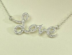 Fred Meyer Jewelers LOVE Sterling Silver Pendant Chain 16quot; Necklace 925 PORTLAND $79.99