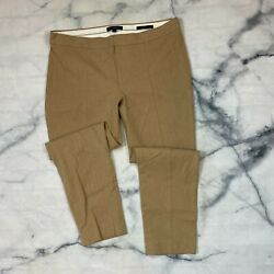 Banana Republic Sloan Fit Dress Pants Size 12 Womens Beige Tapered 366770 Ankle $22.96