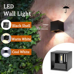 12W Modern Wall Light LED Cool Warm Lamp Sconce Up Down Yard Exterior Fixtures