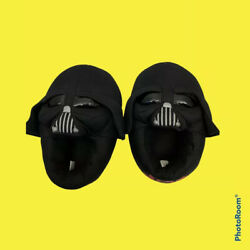 BOYS STAR WARS DARTH VADER 3D LOUNGE INDOOR HOUSE SLIPPERS SHOES XL 11 12 $8.00