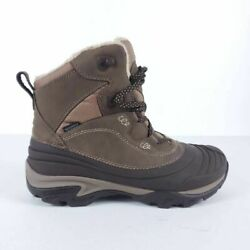 Merrell Womens Trekking And Hiking Boots Brown Opti Warm Leather Lace Up 7 New $71.97