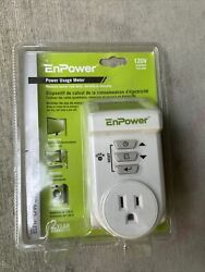 E49CM02 Power Usage Meter : Measure Power Cost Daily Monthly Or Annually $21.99