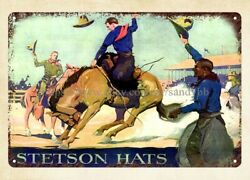 metal retro rustic signs Cowboys in the West Stetson hats metal tin sign $16.95