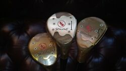 Vintage Spalding Ball Over Bird 1 3 and 5 Woods Set of 3 $49.99