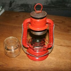 Vintage Dietz No. 50 Oil Lantern Red Made in Hong Kong $32.00