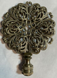 """Antique Lamp Finial Topper Stunning Design Great Shape. 3 3 4"""" $17.99"""