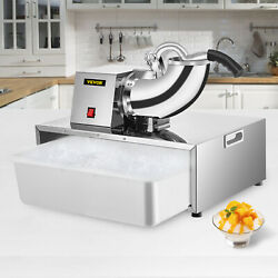 VEVOR Commercial Snow Cone Machine Maker Shaved Ice Machine 500LBS H with Basin