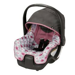 INFANT BABY CAR SEAT with Handle Pivoting Canopy Lightweight Pink Floral $69.99