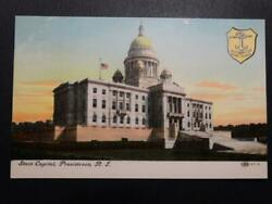 Postcard State Capitol Providence R.I. Rhode Island Early Tinted Image $2.99