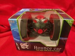 Rechargeable Remote Control Jumping Bounce Car Red Flips Spins $35.00