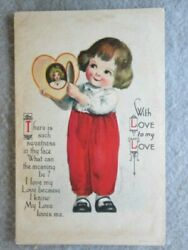 Antique With Love To My Love Ellen H. Clapsaddle Signed Postcard $7.85