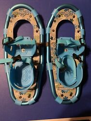 Kids LL Bean Snow Shoes Winter Walker Youth 16 Inches Blue $37.00