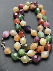 Multicolor Varigated Beaded Lucite Vintage Necklace $12.60