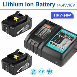 DC18RC For Makita 18V 6.0Ah Lithium ion LXT BL1830 BL1850 Charger 2 Batteries $79.99