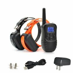 2Pcs Waterproof LCD Electric Remote Shock Dog Training Pet Collar Rechargeable $39.99
