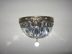 2 Schonbek Crystal Wall Mounted Entrance Way Sconces Model 1904 Magnificent Rare $1000.00