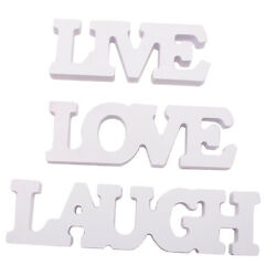 3Pcs Wooden Hanging Wall Letters White Decorative Wall Letter for Children $9.67