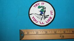 * 1 TRY IT YOU#x27;LL LIKE IT JOKE FUNNY SKI SKIING DOWNHILL CROSS COUNTRY PATCH * $14.77