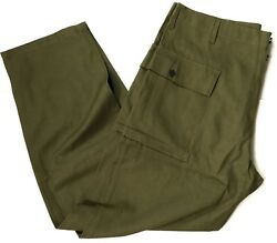 WWII US DARK SHADE TYPE II HBT COMBAT FIELD TROUSERS LARGE $69.56