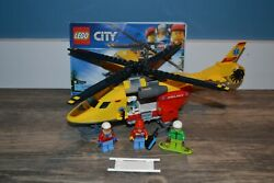 LEGO CITY 60179 AMBULANCE HELICOPTER WITH MINIFIGS 100% COMPLETE $19.99