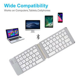 Mini Foldable Wireless Bluetooth Keyboard Compatible for iOS Android Windows $17.98