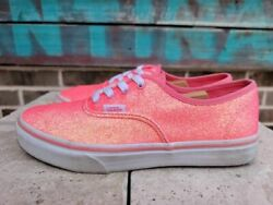 Vans Off The Wall Girls Sneaker Shoe Pink Lace Up Low Top Round Toe 6M $28.60