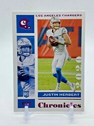 2020 Panini Chronicles Justin Herbert Pink Parallel Rookie Card RC Chargers $3.99