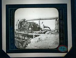 Workers on Wood Bridge Unknown Image of Antique Magic Lantern Glass Slide VG $11.20