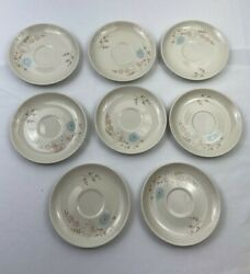 Lot of 8 Taylorton American quot;Echo Dellquot; Fine China Saucers TST Taylor Smith $8.00