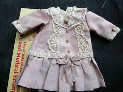 silk dress for small antique Antique French fashion German doll $36.00